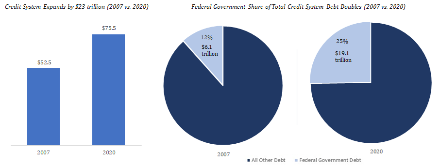 Government debt share
